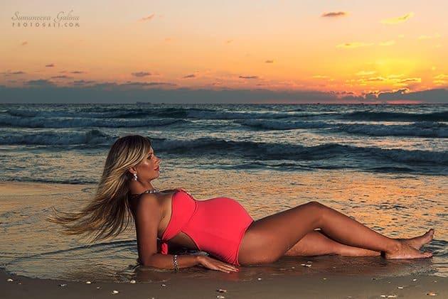 Фотографии беременности на море