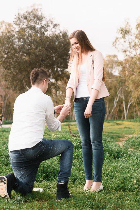 צילום הצעת הנישואין
