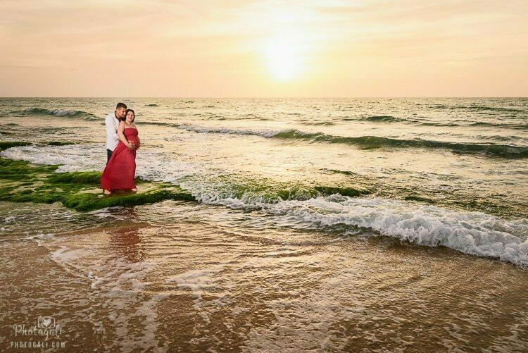 צילומי הריון בטבע בים הפתוח