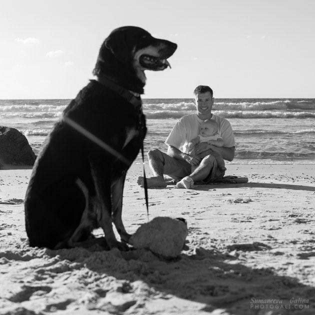 צילום משפחה בחוף ים