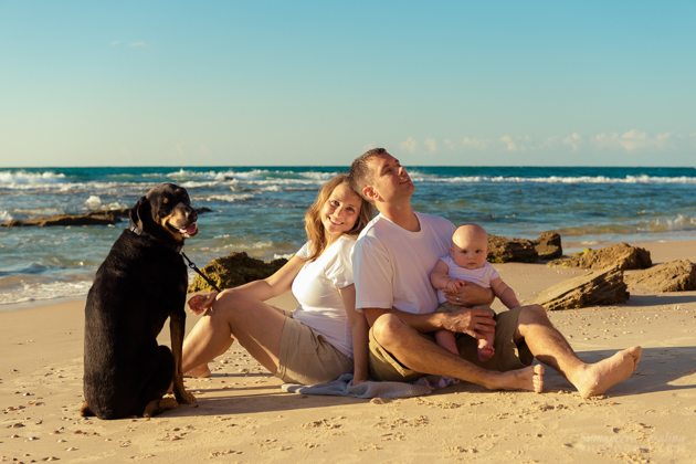 צילום משפחה בים