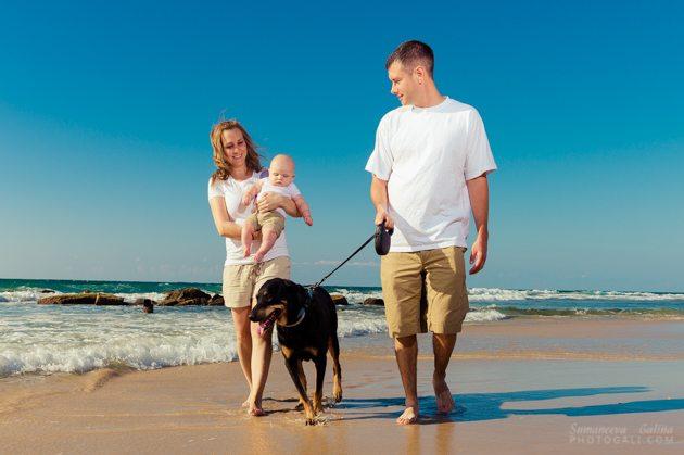 צילומי משפחה בחוף