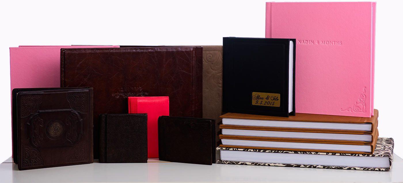 set of photo albums