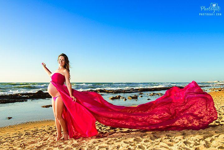 צילום הריון בתל אביב בחוף